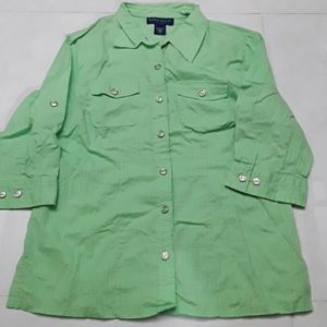 Chartreuse green blouse